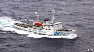Китайский корабль у спорных островов