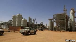 Petrolera en Argelia
