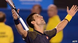 Новак Джокович после победы в Мельбурне