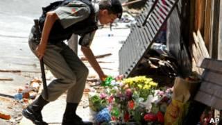 Policía conmemora a los muertos