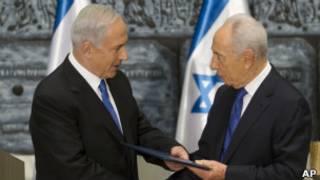 Нетаньяху и Перес