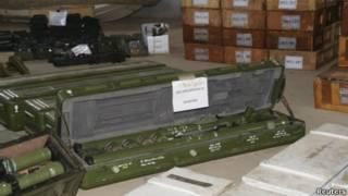 شحنة أسلحة صادرها اليمن
