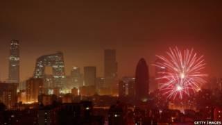 चीन में आतिशबाजी