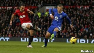 L'attaquant de Manchester United, Ryan Giggs
