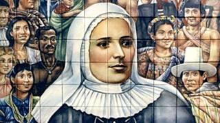 Mosaico dedicado a Madre Laura