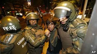 Enfrentamiento en Chile