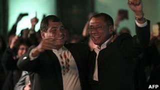 Rafael Correa y su vicepresidente Jorge Glass