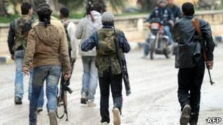 Вооруженные люди в Сирии