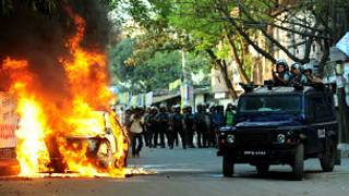 محتجون في بنغلاديش