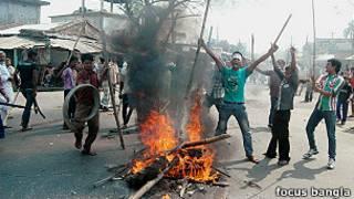 बांग्लादेश, हिंसा, हड़ताल