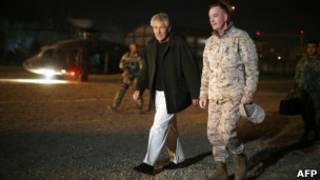 Министр обороны США Чак Хейгл в Афганистане