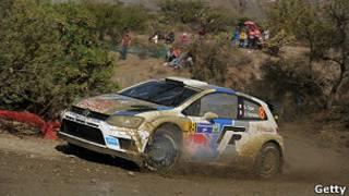 El auto de Sebastián Ogier