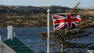 Bandera británica en las islas