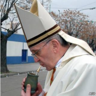 O cardeal Mario Jorge Bergoglio
