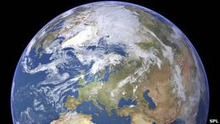 Imagen de satélite de la Tierra
