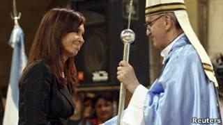 Cristina Fernández y Jorge Bergoglio