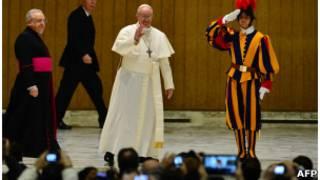 В ходе папской аудиенции