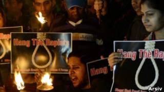 Tecavüze idam isteyen protestocular