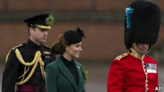 Kate e William durante parada militar pelo dia de são Patrício