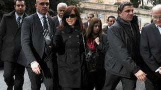 Tổng thống Kirchner đến Rome