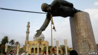اسقاط تمثال صدام
