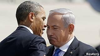 Obama durante su visita a Israel