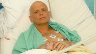 Alexander Litvinenko en el hospital