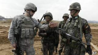 На совместных учениях США и Южной Кореи