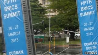 Cartazes da cúpula em Durban