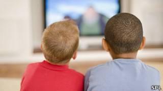 Anak-anak nonton tv