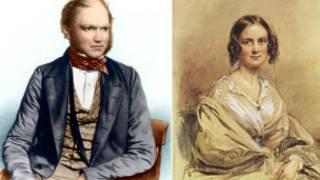 डार्विन और उनकी पत्नी
