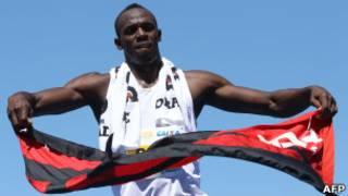 Usain Bolt comemora vitória no Rio (Foto: AFP/Getty Images)