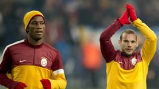 Galatasaraylı Drogba ve Sneijder