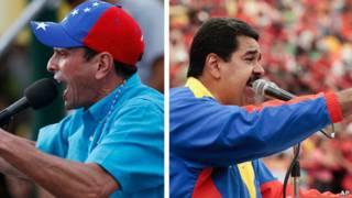 Capriles e Maduro / AP