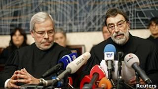 El presidente del Tribunal Constitucional, Joaquim Sousa Ribeiro, y el juez Carlos Cadilha