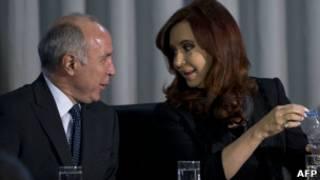 Cristina Kirchner com juiz da Suprema Corte (AFP)