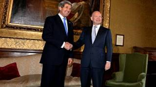 Ngoại trưởng Mỹ gặp gỡ Ngoại trưởng Anh