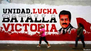 Предвыборный плакат в Венесуэле