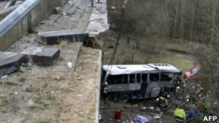 Автобусная авария в Бельгии