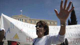 Protesta en Atenas (archivo)