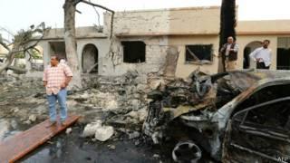 Tòa đại sứ Pháp ở Tripoli sau vụ nổ