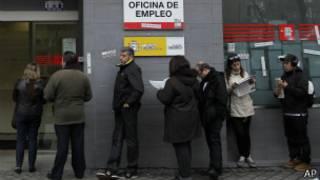 Pencari kerja di Spanyol