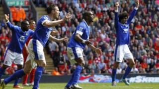 'Yan wasan Everton na korafin hana su kwallon da suka ci Liverpool