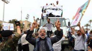 Празднующие ливийцы
