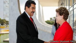 Dilma e Maduro no Planalto, nesta quinta (Roberto Stuckert Filho/PR)