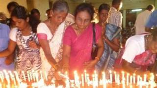 The ceremony to commemorate war dead in Vavuniya (file photo)