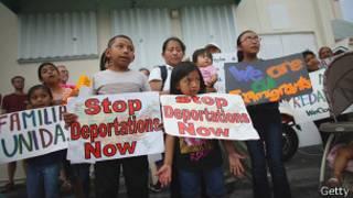 Marcha de imigrantes | Foto: BBC