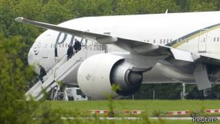 Avião paquistanês interceptado / Reuters