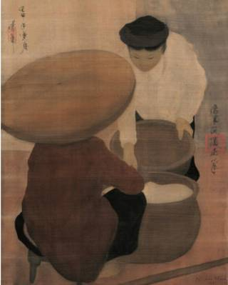 Bức Người bán gạo của họa sỹ Nguyễn Phan Chánh
