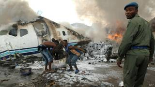 Accidente en la Rep. Democrática del Congo, en 2008.